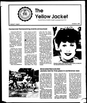 Primary view of object titled 'The Yellow Jacket (Brownwood, Tex.), Vol. 77, No. 5, Ed. 1, Friday, October 6, 1989'.