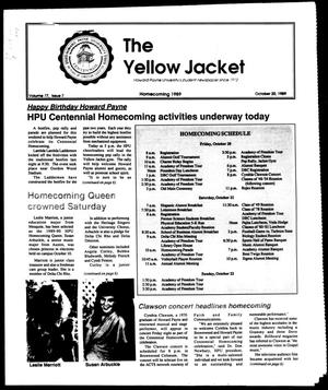 Primary view of object titled 'The Yellow Jacket (Brownwood, Tex.), Vol. 77, No. 7, Ed. 1, Friday, October 20, 1989'.