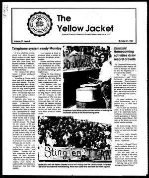 Primary view of object titled 'The Yellow Jacket (Brownwood, Tex.), Vol. 77, No. 8, Ed. 1, Friday, October 27, 1989'.