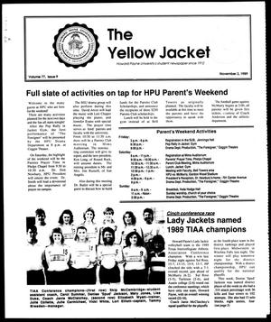 Primary view of object titled 'The Yellow Jacket (Brownwood, Tex.), Vol. 77, No. 9, Ed. 1, Friday, November 3, 1989'.