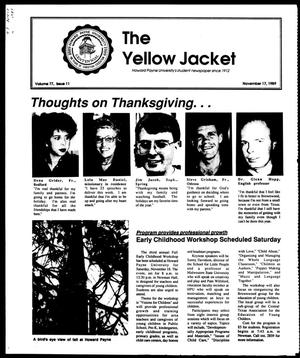 Primary view of object titled 'The Yellow Jacket (Brownwood, Tex.), Vol. 77, No. 11, Ed. 1, Friday, November 17, 1989'.