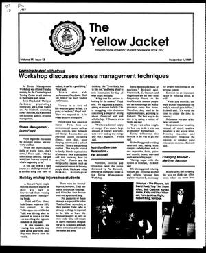 Primary view of object titled 'The Yellow Jacket (Brownwood, Tex.), Vol. 77, No. 12, Ed. 1, Friday, December 1, 1989'.