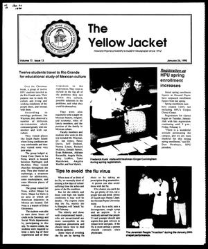 Primary view of object titled 'The Yellow Jacket (Brownwood, Tex.), Vol. 77, No. 13, Ed. 1, Friday, January 26, 1990'.