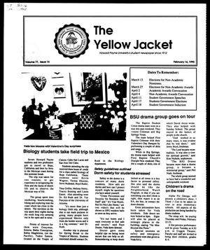 Primary view of object titled 'The Yellow Jacket (Brownwood, Tex.), Vol. 77, No. 16, Ed. 1, Friday, February 16, 1990'.