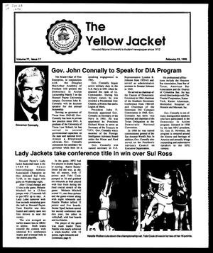 Primary view of object titled 'The Yellow Jacket (Brownwood, Tex.), Vol. 77, No. 17, Ed. 1, Friday, February 23, 1990'.