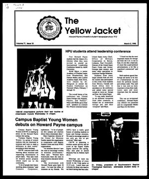 Primary view of object titled 'The Yellow Jacket (Brownwood, Tex.), Vol. 77, No. 18, Ed. 1, Friday, March 2, 1990'.