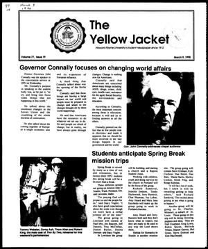 Primary view of object titled 'The Yellow Jacket (Brownwood, Tex.), Vol. 77, No. 19, Ed. 1, Friday, March 9, 1990'.