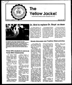 Primary view of object titled 'The Yellow Jacket (Brownwood, Tex.), Vol. 77, No. 20, Ed. 1, Friday, March 30, 1990'.
