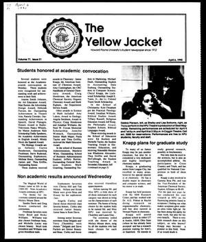 Primary view of object titled 'The Yellow Jacket (Brownwood, Tex.), Vol. 77, No. 21, Ed. 1, Friday, April 6, 1990'.