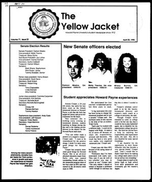 Primary view of object titled 'The Yellow Jacket (Brownwood, Tex.), Vol. 77, No. 22, Ed. 1, Friday, April 20, 1990'.