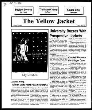 Primary view of object titled 'The Yellow Jacket (Brownwood, Tex.), Vol. 78, No. 5, Ed. 1, Friday, October 12, 1990'.