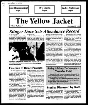 Primary view of object titled 'The Yellow Jacket (Brownwood, Tex.), Vol. 79, No. 9, Ed. 1, Wednesday, November 13, 1991'.