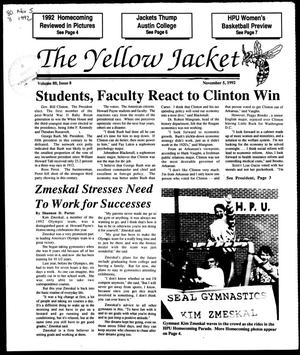Primary view of object titled 'The Yellow Jacket (Brownwood, Tex.), Vol. 80, No. 8, Ed. 1, Thursday, November 5, 1992'.
