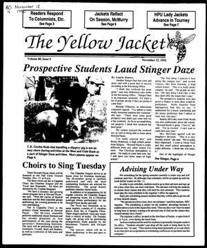 Primary view of object titled 'The Yellow Jacket (Brownwood, Tex.), Vol. 80, No. 9, Ed. 1, Thursday, November 12, 1992'.
