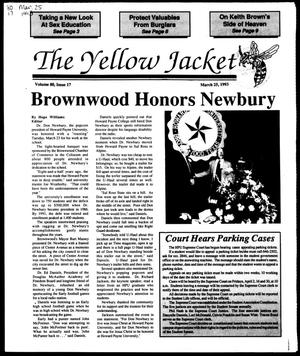 Primary view of object titled 'The Yellow Jacket (Brownwood, Tex.), Vol. 80, No. 17, Ed. 1, Thursday, March 25, 1993'.