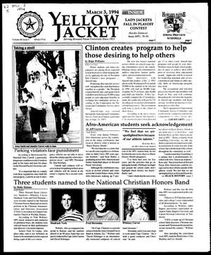Yellow Jacket (Brownwood, Tex.), Vol. 82, No. 5, Ed. 1, Thursday, March 3, 1994