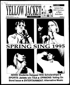 Primary view of object titled 'Howard Payne University Yellow Jacket (Brownwood, Tex.), Vol. 83, No. 19, Ed. 1, Thursday, March 2, 1995'.