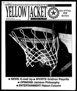 Primary view of object titled 'Howard Payne University Yellow Jacket (Brownwood, Tex.), Vol. 85, No. 9, Ed. 1, Thursday, November 16, 1995'.
