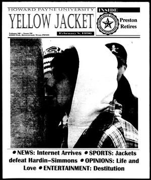 Primary view of object titled 'Howard Payne University Yellow Jacket (Brownwood, Tex.), Vol. 86, No. 12, Ed. 1, Thursday, February 8, 1996'.