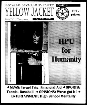 Primary view of object titled 'Howard Payne University Yellow Jacket (Brownwood, Tex.), Vol. 86, No. 20, Ed. 1, Thursday, April 25, 1996'.