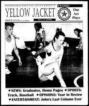Primary view of object titled 'Howard Payne University Yellow Jacket (Brownwood, Tex.), Vol. 86, No. 21, Ed. 1, Thursday, May 2, 1996'.