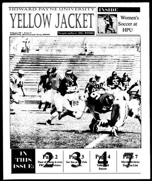 Primary view of object titled 'Howard Payne University Yellow Jacket (Brownwood, Tex.), Vol. 87, No. 1, Ed. 1, Thursday, September 26, 1996'.