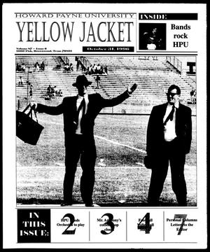 Primary view of object titled 'Howard Payne University Yellow Jacket (Brownwood, Tex.), Vol. 87, No. 6, Ed. 1, Thursday, October 31, 1996'.