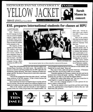 Primary view of object titled 'Howard Payne University Yellow Jacket (Brownwood, Tex.), Vol. 87, No. 8, Ed. 1, Thursday, November 14, 1996'.