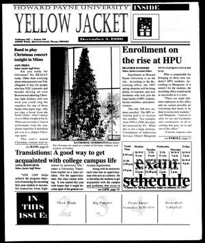 Primary view of object titled 'Howard Payne University Yellow Jacket (Brownwood, Tex.), Vol. 87, No. 10, Ed. 1, Thursday, December 5, 1996'.