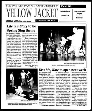 Primary view of object titled 'Howard Payne University Yellow Jacket (Brownwood, Tex.), Vol. 87, No. 13, Ed. 1, Thursday, February 20, 1997'.