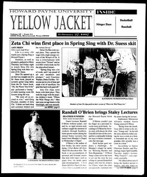 Primary view of object titled 'Howard Payne University Yellow Jacket (Brownwood, Tex.), Vol. 87, No. 14, Ed. 1, Thursday, February 27, 1997'.