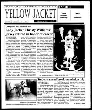 Primary view of object titled 'Howard Payne University Yellow Jacket (Brownwood, Tex.), Vol. 87, No. 16, Ed. 1, Thursday, March 20, 1997'.