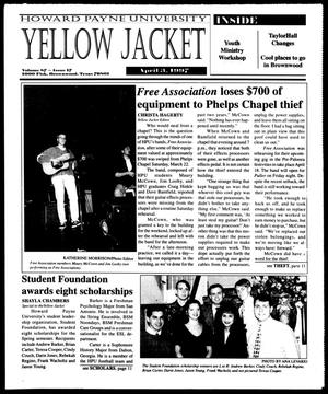 Primary view of object titled 'Howard Payne University Yellow Jacket (Brownwood, Tex.), Vol. 87, No. 17, Ed. 1, Thursday, April 3, 1997'.