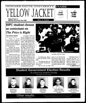 Primary view of object titled 'Howard Payne University Yellow Jacket (Brownwood, Tex.), Vol. 87, No. 21, Ed. 1, Thursday, May 1, 1997'.