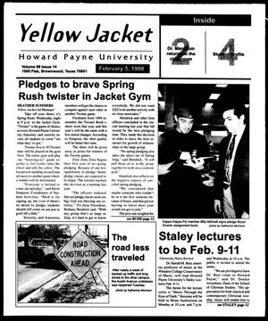 Primary view of object titled 'Howard Payne University Yellow Jacket (Brownwood, Tex.), Vol. 88, No. 14, Ed. 1, Thursday, February 5, 1998'.