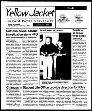 Primary view of object titled 'Howard Payne University Yellow Jacket (Brownwood, Tex.), Vol. 88, No. 24, Ed. 1, Thursday, April 30, 1998'.