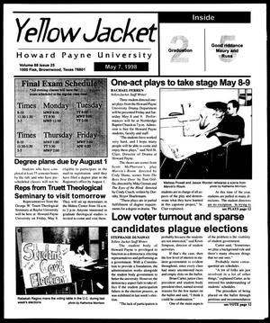 Primary view of object titled 'Howard Payne University Yellow Jacket (Brownwood, Tex.), Vol. 88, No. 25, Ed. 1, Thursday, May 7, 1998'.