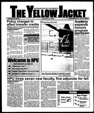 Primary view of object titled 'The Yellow Jacket (Brownwood, Tex.), Vol. 89, No. 1, Ed. 1, Thursday, August 27, 1998'.