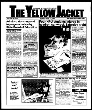 Primary view of object titled 'The Yellow Jacket (Brownwood, Tex.), Vol. 89, No. 2, Ed. 1, Thursday, September 10, 1998'.