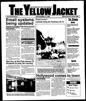 Primary view of object titled 'The Yellow Jacket (Brownwood, Tex.), Vol. 89, No. 3, Ed. 1, Thursday, September 17, 1998'.