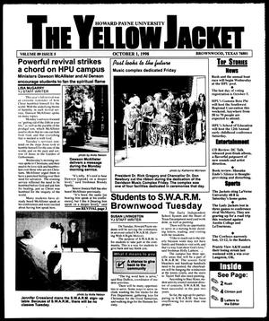 Primary view of object titled 'The Yellow Jacket (Brownwood, Tex.), Vol. 89, No. 5, Ed. 1, Thursday, October 1, 1998'.