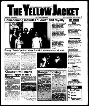 Primary view of object titled 'The Yellow Jacket (Brownwood, Tex.), Vol. 89, No. 7, Ed. 1, Thursday, October 15, 1998'.