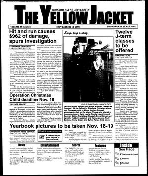 Primary view of object titled 'The Yellow Jacket (Brownwood, Tex.), Vol. 89, No. 11, Ed. 1, Thursday, November 12, 1998'.