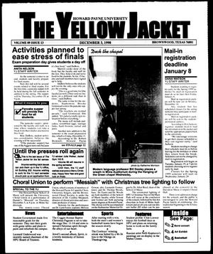 Primary view of object titled 'The Yellow Jacket (Brownwood, Tex.), Vol. 89, No. 13, Ed. 1, Thursday, December 3, 1998'.