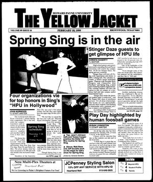 Primary view of object titled 'The Yellow Jacket (Brownwood, Tex.), Vol. 89, No. 16, Ed. 1, Thursday, February 18, 1999'.