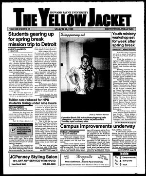 Primary view of object titled 'The Yellow Jacket (Brownwood, Tex.), Vol. 89, No. 19, Ed. 1, Thursday, March 11, 1999'.