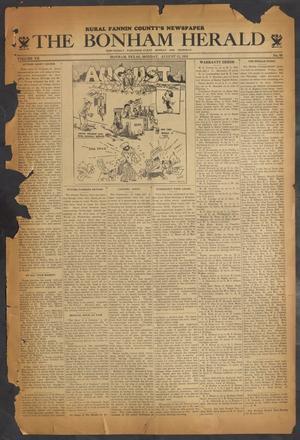 The Bonham Herald (Bonham, Tex.), Vol. 7, No. 99, Ed. 1 Monday, August 13, 1934