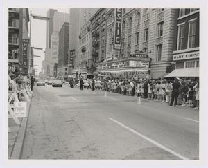 "Primary view of object titled '[Spectators observe world premiere of ""Bandolero"" at the Majestic Theatre]'."