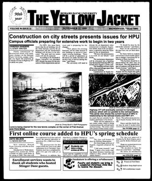 Primary view of object titled 'The Yellow Jacket (Brownwood, Tex.), Vol. 90, No. 11, Ed. 1, Thursday, November 11, 1999'.