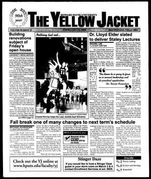 Primary view of object titled 'The Yellow Jacket (Brownwood, Tex.), Vol. 90, No. 15, Ed. 1, Thursday, February 10, 2000'.